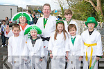 IRISH TIME: Member's of the Yoshin Judo Club, Killorglin taking part in the Killorglin St Patrick's Day parade on Saturday l-r: Sean Flynn, Timothy Molskal, Nicholas Molskal, Eugene Cotter, Alison Flynn, Ewan Cotter, Hugh Ftizpatrick and Alex Boyle...