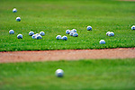 20 February 2011: Baseballs lies on the turf during Spring Training at the Carl Barger Baseball Complex in Viera, Florida. Mandatory Credit: Ed Wolfstein Photo