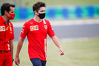 17th July 2020, Hungaroring, Budapest, Hungary; F1 Grand Prix of Hungary,  free practise sessions;  16 Charles Leclerc MCO, Scuderia Ferrari Mission Winnow  arrives at track in Budapest Hungary
