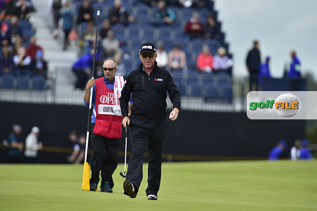 Miguel Angel JIMENEZ (ESP) on the 4th green during Friday's Round 2 of the 144th Open Championship, St Andrews Old Course, St Andrews, Fife, Scotland. 17/07/2015.<br /> Picture Eoin Clarke, www.golffile.ie