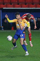 Tyler Walker of Mansfield Town and Charlton's Toby Stevenson during Charlton Athletic vs Mansfield Town, Emirates FA Cup Football at The Valley on 20th November 2018