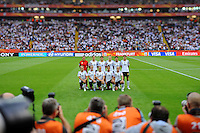 Starting eleven of team Germany during the FIFA Women's World Cup at the FIFA Stadium in Frankfurt, Germany on June 30th, 2011.