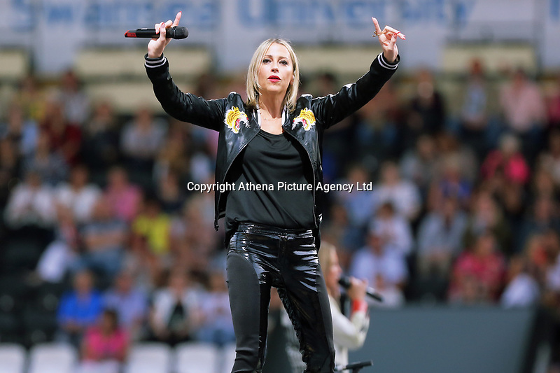 Pictured: All Saints on stage. Wednesday 14 June 2017<br /> Re: Take That concert at the Liberty Stadium, Swansea, Wales, UK