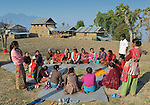 Women participate in an emotional support group in Makaising, a village in the Gorkha District of Nepal where a church-sponsored humanitarian agency has provided a variety of support to local villagers in the wake of a devastating 2015 earthquake.