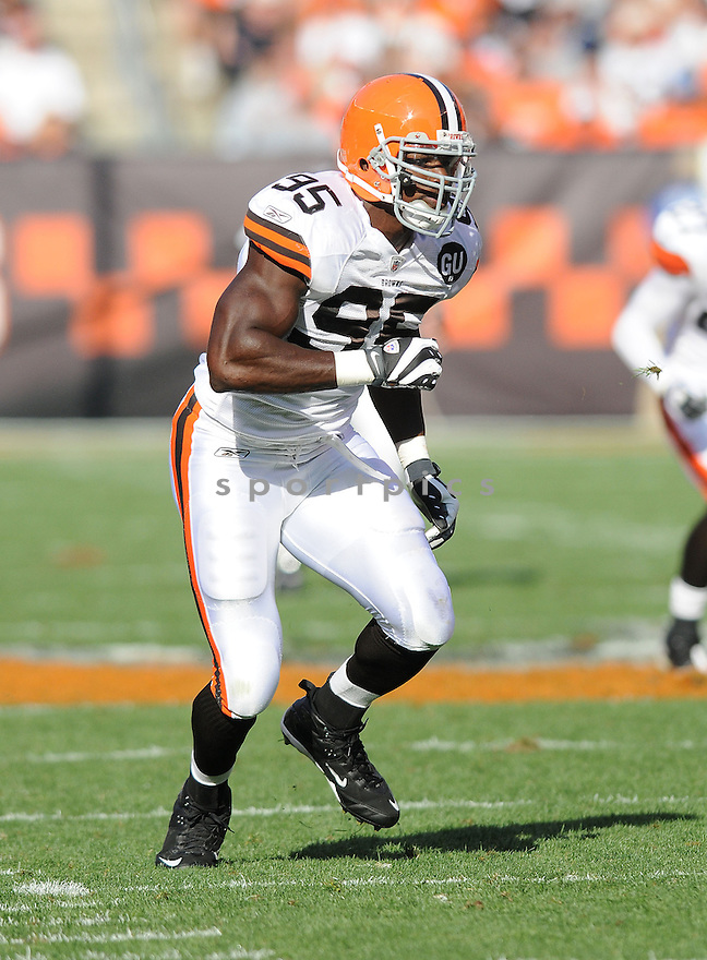 KAMERION WIMBLEY, of the Cleveland Browns , in action during the Browns game against the Dallas Cowboys in Cleveland, Ohio on September 7, 2008..The Dallas Cowboys won 28-10