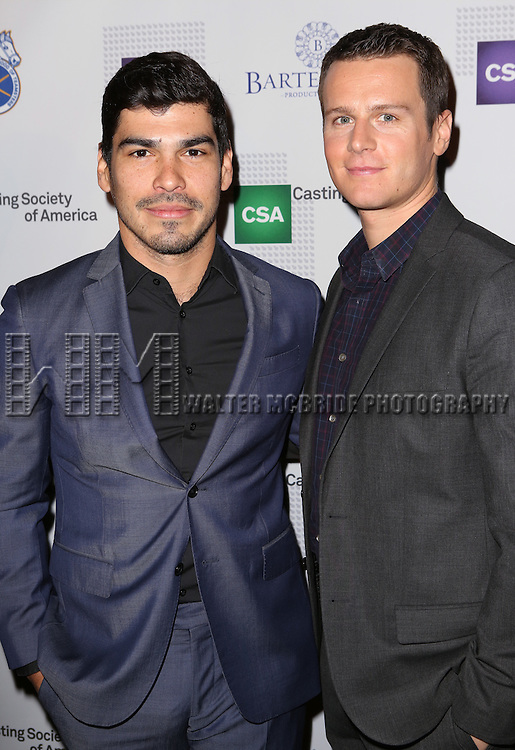 Raul Castillo and Jonathan Groff attends the 30th Annual Artios Awards at 42 WEST on January 22, 2015 in New York City.