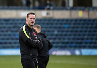 Player Manager Kevin Nolan checks the pitch during the Sky Bet League 2 match between Wycombe Wanderers and Leyton Orient at Adams Park, High Wycombe, England on 23 January 2016. Photo by Massimo Martino / PRiME Media Images.