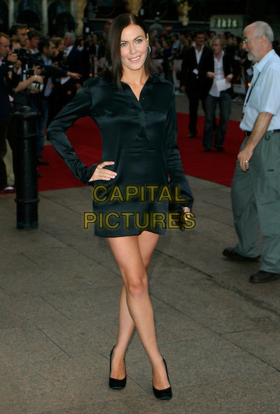"LINZI STOPPARD.At the UK Film Premiere of ""You, Me & Dupree"",.Odeon Leicester Square, London, England, .August 22nd 2006..full length black dress legs crossed shoes hand on hip.Ref: AH.www.capitalpictures.com.sales@capitalpictures.com.©Adam Houghton/Capital Pictures."