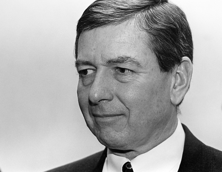 Close-up of Sen. John Ashcroft, R-Mo. on March, 1994. (Photo by Maureen Keating/CQ Roll Call)