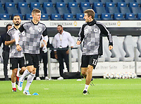 Ilkay Guendogan (Deutschland, Germany), Toni Kroos (Deutschland Germany), Thomas Mueller (Deutschland Germany) - 09.09.2018: Deutschland vs. Peru, Wirsol Arena Sinsheim, Freundschaftsspiel DISCLAIMER: DFB regulations prohibit any use of photographs as image sequences and/or quasi-video.