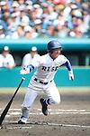 Takahiro Nishimura (Riseisha),<br /> APRIL 2, 2014 - Baseball :<br /> 86th National High School Baseball Invitational Tournament final game between Ryukoku-Dai Heian 6-2 Riseisha at Koshien Stadium in Hyogo, Japan. (Photo by Katsuro Okazawa/AFLO)