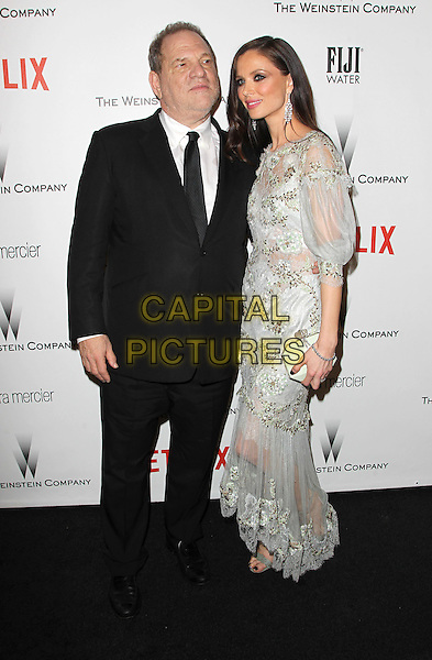 11 January 2015 - Beverly Hills, California - Harvey Weinstein, Georgina Chapman. The Weinstein Company and Netflix 2015 Golden Globes After Party celebrating the 72nd Annual Golden Globe Awards held at Robinsons May Lot.  <br /> CAP/ADM/KB<br /> &copy;KB/ADM/Capital Pictures