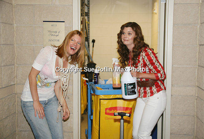 Michelle Stafford Y&R and Heather Tom BB at Soapstar Spectacular presented by KDKA-TV stars Y&R, BB, GL and ATWT on June 13, 2010 at the Petersen Events Center, University of Pittsburgh, PA and benefited the Susan G. Komen for the Cure Pittsburgh Affiliate. (Photo by Sue Coflin/Max Photos)