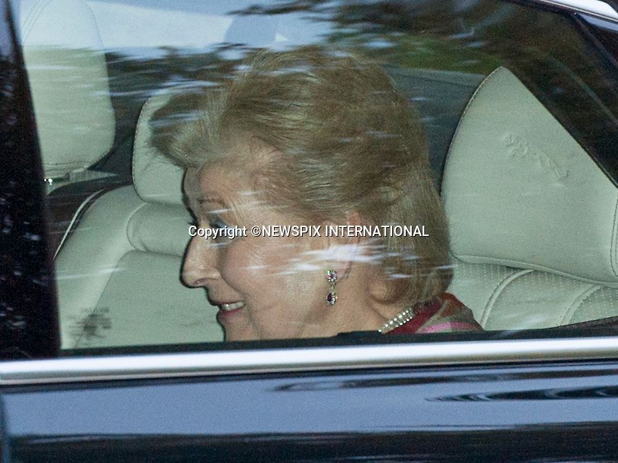 PRINCESS ALEXANDRA (Queen's cousin)<br /> PRINCE GEORGE CHRISTENING<br /> Royal Chapel, St. James' Palace, London<br /> The private service was attended by the the parents Duke &amp; Duchess of Cambridge, Prince Charles, Camilla, Duchess of Cornwall, The Queen, Dule of Edinburgh, Prince Harry and Zara Phillips and other godparents.<br /> Picture Shows: Prince William and Kate leaving St. James' Palace after the service with Prince Geoorge in arear car seat.<br /> Mandatory Credit Photo: &copy;Piper/NEWSPIX INTERNATIONAL<br /> <br /> **ALL FEES PAYABLE TO: &quot;NEWSPIX INTERNATIONAL&quot;**<br /> <br /> IMMEDIATE CONFIRMATION OF USAGE REQUIRED:<br /> Newspix International, 31 Chinnery Hill, Bishop's Stortford, ENGLAND CM23 3PS<br /> Tel:+441279 324672  ; Fax: +441279656877<br /> Mobile:  07775681153<br /> e-mail: info@newspixinternational.co.uk