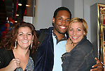 "Lawrence Saint-Victor ""Remy"" poses with Martha (wardrobe GL) and Jackie (was wardrobe GL and now does wardrobe for Katie Couric) -  Guiding Light's Mandy Bruno ""Marina Cooper"" celebrated her birthday at Planet Hollywood, NYC by throwing for her friends and castmates a party on Sept. 23, 2006. Her birthday was on the 20th of Sept. Here is Lawrence St. Victor ""Remy"". (Photo by Sue Coflin/Max Photos)"