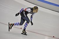SCHAATSEN: HEERENVEEN: IJsstadion Thialf, 29-12-2015, KPN NK Afstanden, 1000m Dames, Moniek Klijnstra, ©foto Martin de Jong