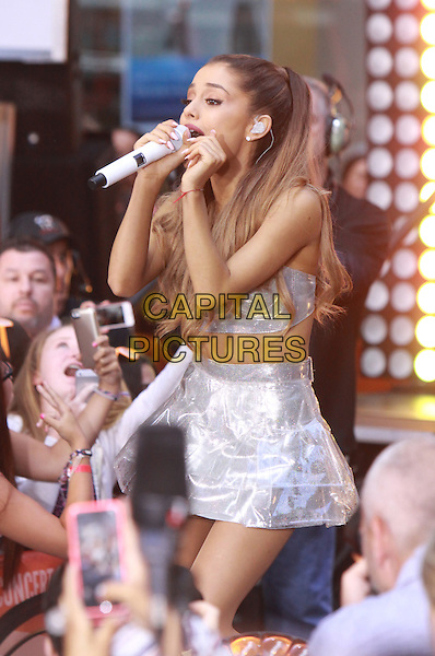 NEW YORK, NY - AUGUST 28:  Ariana Grande performs on NBC's Today Show Concert Series at Rockefeller Center in New York City on August 28, 2014. <br /> CAP/MPI/RW<br /> &copy;RW/ MediaPunch/Capital Pictures