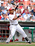 17 May 2007: Washington Nationals infielder Ronnie Belliard in action against the Atlanta Braves at RFK Stadium in Washington, DC. The Nationals defeated the Braves 4-3 to take the four-game series three games to one...Mandatory Photo Credit: Ed Wolfstein Photo