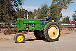 Annual fall Gas-Up at McFarland Ranch near Galt, Calif. of Branch 13, Early-Day Gas Engine and Tractor Association. (EDGE & TA)..1950s John Deere model MT rowcrop tractor