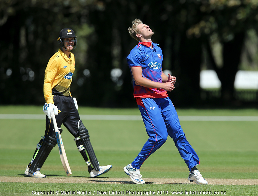 Wellington Firebirds v Auckland Aces Ford Trophy One Day Match Round Three at Lincoln No.3 in Lincoln, New Zealand on Monday, 25 November 2019. Photo: Martin Hunter / lintottphoto.co.nz