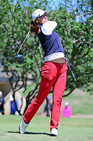 Annie Park (USA) watches her tee shot on 2 during round 4 of  the Volunteers of America Texas Shootout Presented by JTBC, at the Las Colinas Country Club in Irving, Texas, USA. 4/30/2017.<br /> Picture: Golffile | Ken Murray<br /> <br /> <br /> All photo usage must carry mandatory copyright credit (&copy; Golffile | Ken Murray)