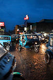 PHILIPPINES, Palawan, Puerto Princessa, street scene at night near the Old Market in the City Port Area
