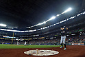 Ichiro Suzuki (Marlins),<br /> APRIL 19, 2017 - MLB :<br /> Ichiro Suzuki of the Miami Marlins warms up in the on deck circle during the Major League Baseball game against the Seattle Mariners at Safeco Field in Seattle, Washington, United States. (Photo by AFLO)