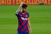 16th July 2020; Camp Nou, Barcelona, Catalonia, Spain; La Liga Football, Barcelona versus Osasuna; Leo Messi gestures with frustration as his free kick late in the game sails over the bar and Barca lose 1-2