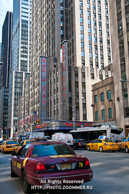 Radio City music hall on 5th avenue, Manhattan