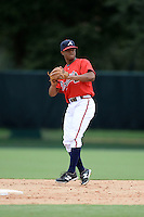 Atlanta Braves second baseman Ray-Patrick Didder (49) during an Instructional League game against the Houston Astros on September 22, 2014 at the ESPN Wide World of Sports Complex in Kissimmee, Florida.  (Mike Janes/Four Seam Images)