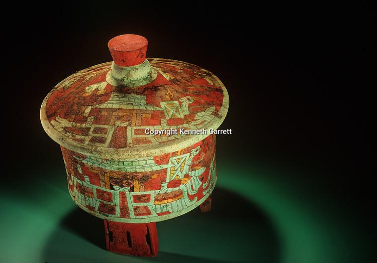 MM5571; Maya; Copan, Margarita Tomb, Mayan; Honduras; Dazzler Vessel, Teotihuacan, stucco