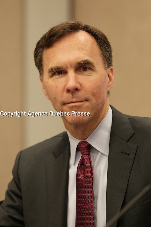 William Francis Morneau, Minister of Finance, Canada<br /> attend the Launch by the Organisation for Economic Co-operation and Development (OECD) <br /> of Their Economic Survey of Canada 2016 during the 22nd edition of the Conference of Montreal, held June 13 to 15, 2016<br /> <br /> PHOTO : Pierre Roussel -  Agence Quebec Presse