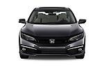 Car photography straight front view of a 2019 Honda Civic-Sedan Touring 4 Door Sedan Front View