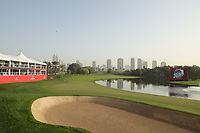 A general view of the 9th during the third round of the Omega Dubai Desert Classic, Emirates Golf Club, Dubai, UAE. 26/01/2019<br /> Picture: Golffile | Phil Inglis<br /> <br /> <br /> All photo usage must carry mandatory copyright credit (© Golffile | Phil Inglis)