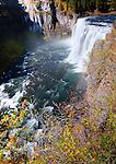 Idaho,East. Upper Mesa Falls on the Henry's Fork of the Snake River.