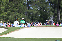 Bryson DeChambeau (USA) on the 7th green during the 1st round at the The Masters , Augusta National, Augusta, Georgia, USA. 11/04/2019.<br /> Picture Fran Caffrey / Golffile.ie<br /> <br /> All photo usage must carry mandatory copyright credit (© Golffile | Fran Caffrey)