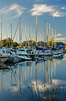 LaPoint Harbor is washed with late afternoon light, Madeline Island, in the Apostle Islands, Ashland County, Wisconsin