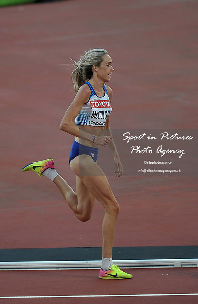 Eilish MCCOLGAN (GBR) in the womens 5000m heats. IAAF world athletics championships. London Olympic stadium. Queen Elizabeth Olympic park. Stratford. London. UK. 10/08/2017. ~ MANDATORY CREDIT Garry Bowden/SIPPA - NO UNAUTHORISED USE - +44 7837 394578