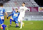2016-01-09 / Voetbal / Seizoen 2015-2016 / Oosterzonen - Grimbergen / Simon Vermeiren scoorde twee maal voor Oosterzonen vanop de stip.<br /><br />Foto: Mpics.be