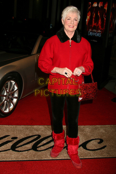"SHIRLEY JONES.Los Angeles Premiere of ""Dreamgirls"" at the Wilshire Theatre, Beverly Hills, California, USA. .December 11th, 2006.full length red ugg boots black trousers purse bag jacket .CAP/ADM/BP.©Byron Purvis/AdMedia/Capital Pictures"