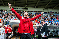 Francesco Guidolin, Manager of Swansea City  waves to fans during the Barclays Premier League match between Swansea City and Manchester City played at the Liberty Stadium, Swansea on the 15th of May  2016