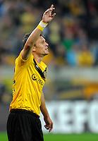 Fussball, 2. Bundesliga, Saison 2011/12, SG Dynamo Dresden - Eintracht Frankfurt, Montag (26.09.11), gluecksgas Stadion, Dresden. Dresdens Zlatko Dedic gestikuliert.