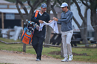 Dylan Frittelli (RSA) approaches the 10th tee during Round 3 of the Valero Texas Open, AT&amp;T Oaks Course, TPC San Antonio, San Antonio, Texas, USA. 4/21/2018.<br /> Picture: Golffile   Ken Murray<br /> <br /> <br /> All photo usage must carry mandatory copyright credit (&copy; Golffile   Ken Murray)