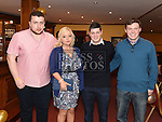 Stephen Barry, Nicole Kelly, Mark and eamonn McQuillan pictured at A Surprise Engagement presented by Louth Macra in the Valley Inn. Photo:Colin Bell/pressphotos.ie
