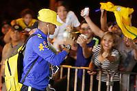 GOIANIA, GO, 28.07.2016 - BRASIL-JAPÃO - O jogador Neymar Jr. durante chegada da seleção brasileira ao  Hotel Alpha Park em Goiânia nesta quinta-feira, 28.  (Foto: Marcos Souza/Brazil Photo Press)