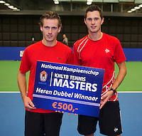 21-12-13,Netherlands, Rotterdam,  Topsportcentrum, Tennis Masters, Mens doubles winners: Wesley Koolhof and Stephan Fransen(R)(NED)<br /> Photo: Henk Koster