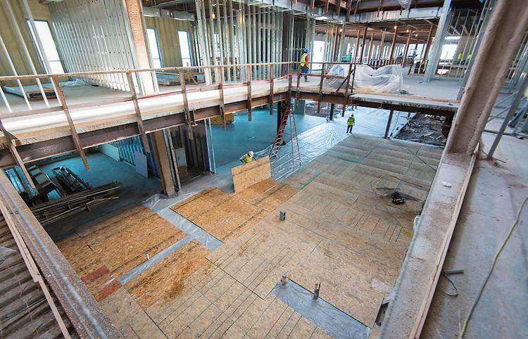 Construction at Sterling High School, October 16, 2015.