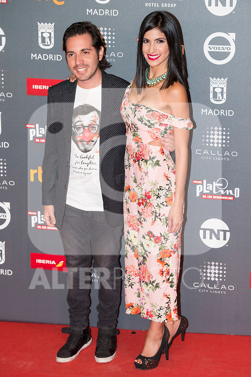 Victor Arauz and Pamela Zambrano attends to welcome party photocall of Platino Awards 2017 at Callao Cinemas in Madrid, July 20, 2017. Spain.<br /> (ALTERPHOTOS/BorjaB.Hojas)