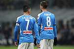 Jose Callejon and Fabian Ruiz of Napoli during the Coppa Italia match at Giuseppe Meazza, Milan. Picture date: 12th February 2020. Picture credit should read: Jonathan Moscrop/Sportimage