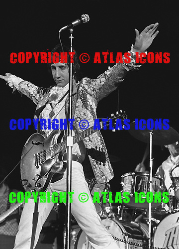 Pete Townshend of the Who at the Cow Palace, San Francisco 1967<br /> Photo Credit: Baron Wolman\AtlasIcons.com